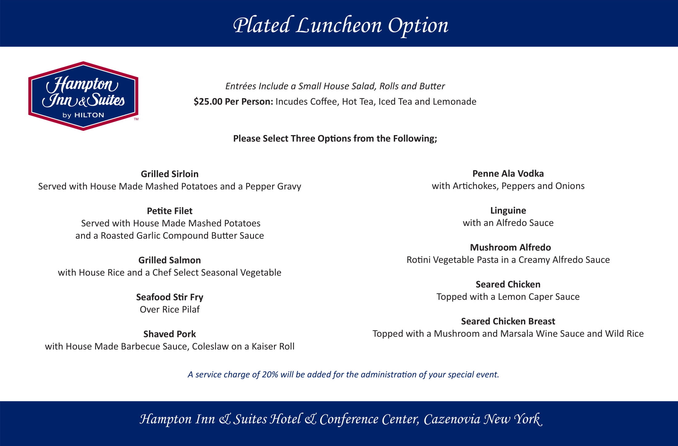 Corporate Plated Luncheon