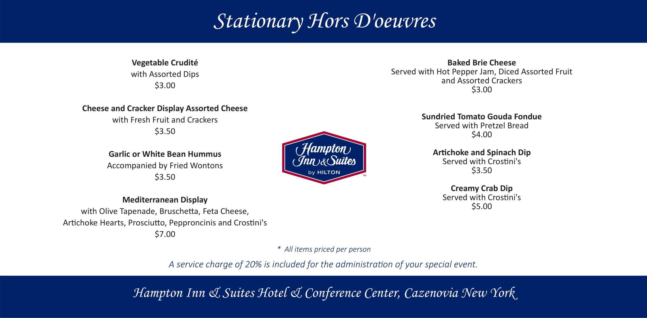 Stationary Hors D'oeuvres