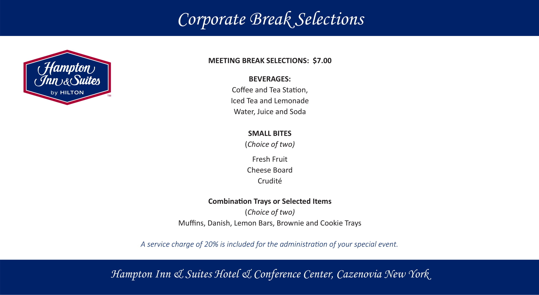 Corporate Break Selections