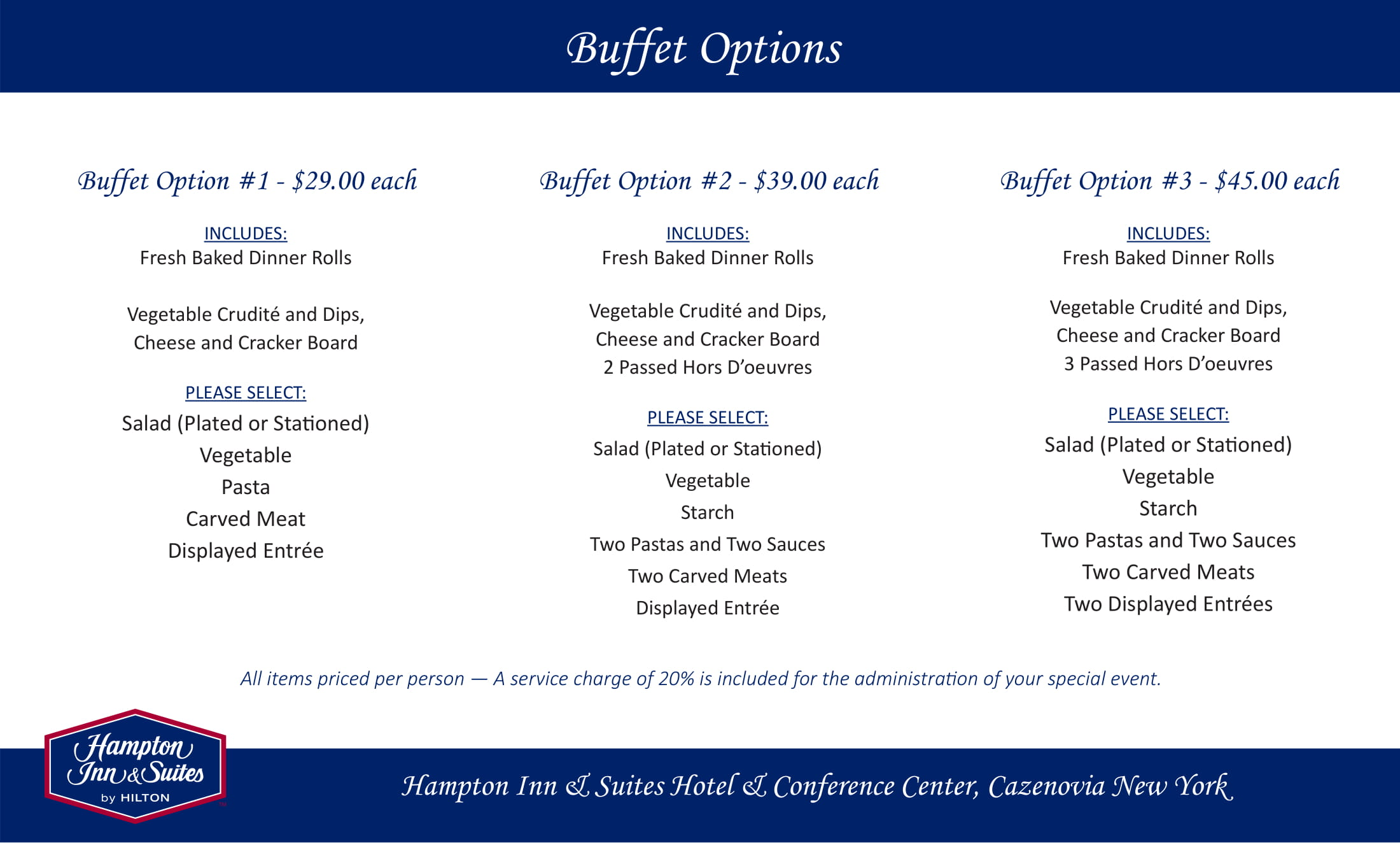 Buffet Options